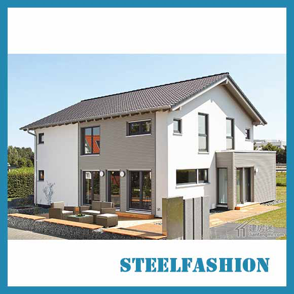 european style color 2storey modern steel house-sfcontainerhouse.com