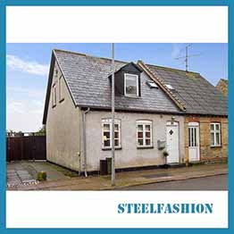 two-story Danish style nordic style steel frame house-sfcontainerhouse.com