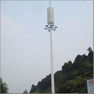 Galvanized steel high mast light pole