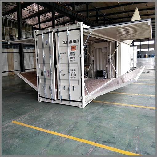 Mobile Container Explosion Proof Tank Petrol Fuel Station With 2 Fuel Dispensing