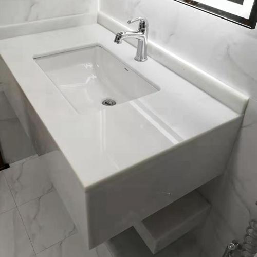 China White Jade Slab Vanity Wall Floor Panel Tile