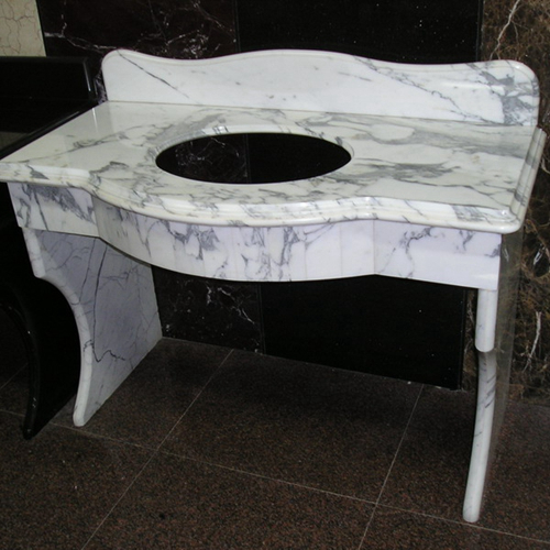 Arabescato Corchia2u White Marble Vanity Tops Sink Cut Wall Cladding Sizes With Polishing Surface