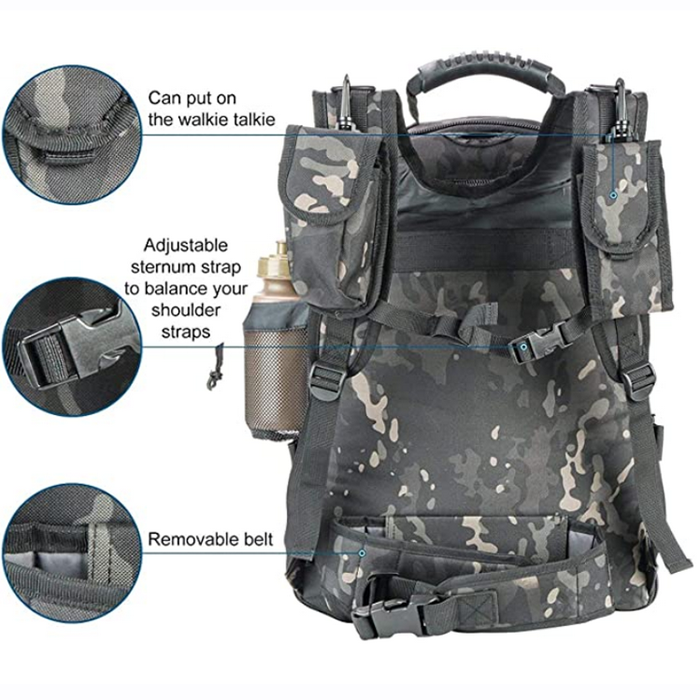 camo military backpack