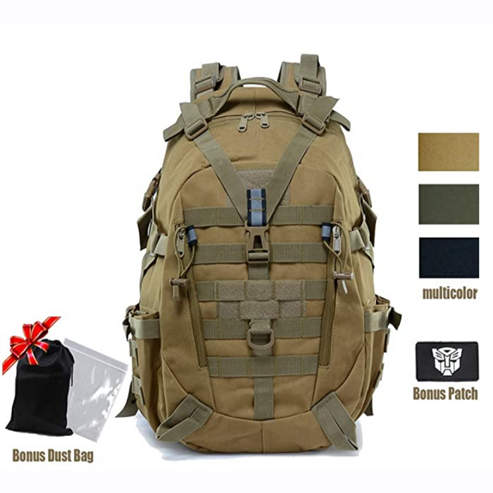 Military Tactical Backpack for Men 35L 45L Army Pack  Molle Rucksack with Reflector