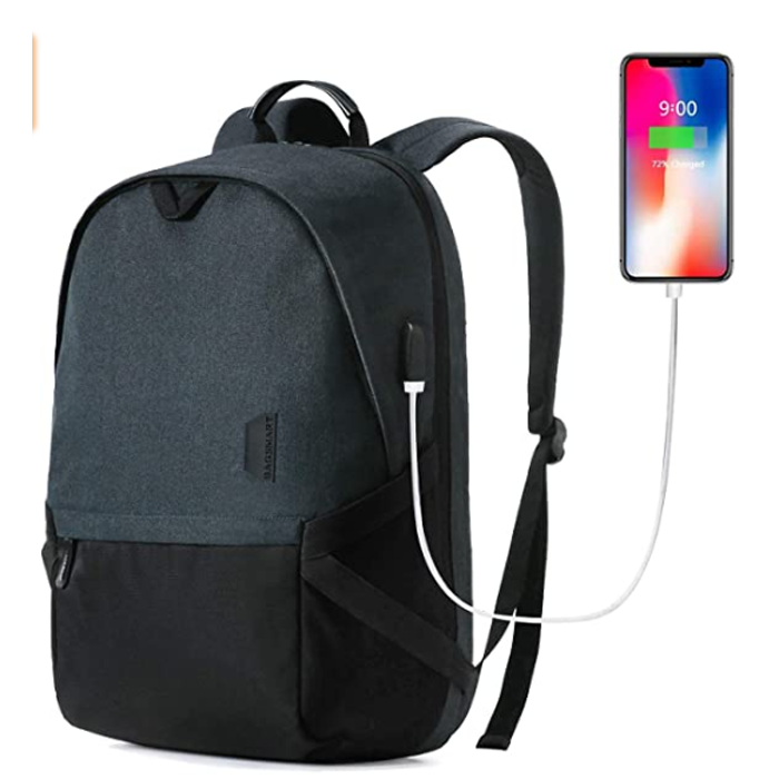SMART 15.6 Travel Backpack With USB Charging Port Durable Schlool Backpack