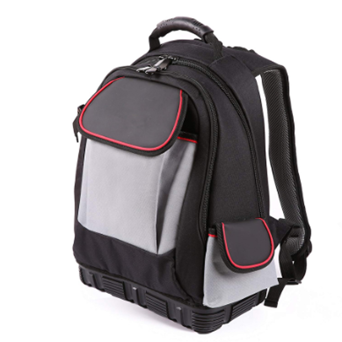 Electrician Tool Backpack with 51 Pockets and Waterproof Molded Base