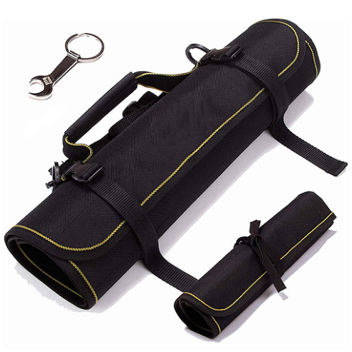 multi pockets roll tool pouch