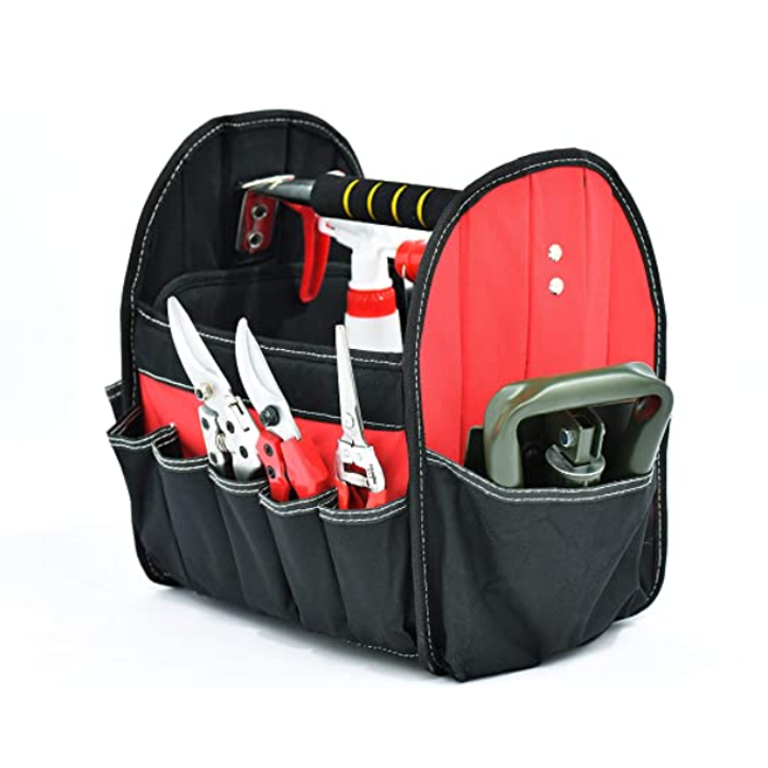 open-top garden tool storage bag