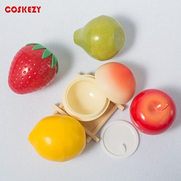 Wholesale 30g Beauty Fruit Shaped Lip Balm Jar