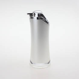 Plastic Pearl White Lotion Pump Bottles with Silver Head