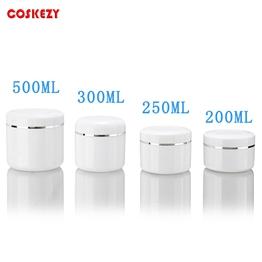200ml 250ml 300ml 500ml Empty Round PET Cream Jars