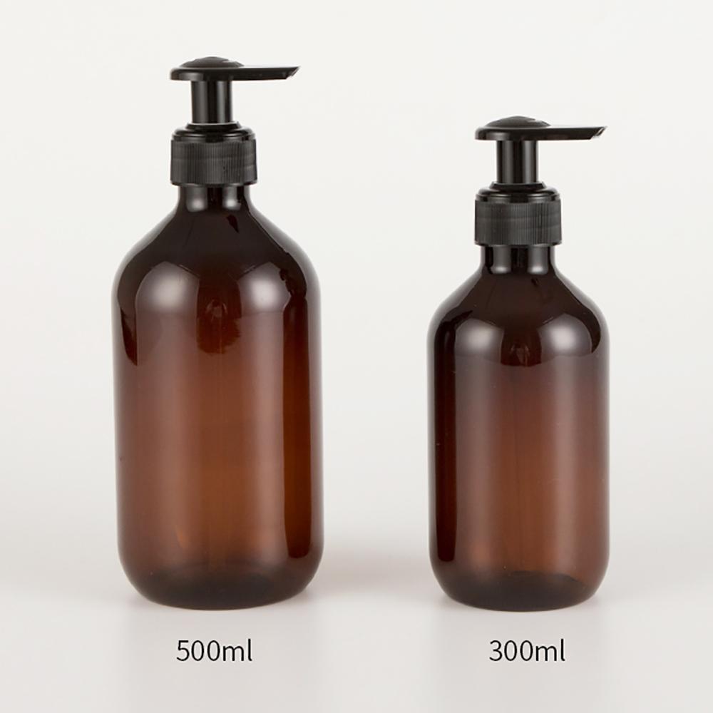 Wholesale Empty 300ml 500ml Round Essential Oil Plastic Bottle PET