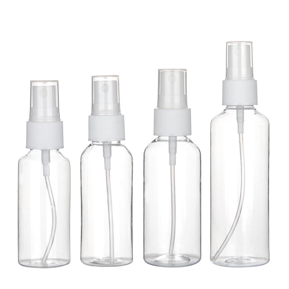 Clear 20ml 30ml 50ml 60ml 100ml Alcohol Disinfectants Spray Plastic Refillable Bottle Supplier