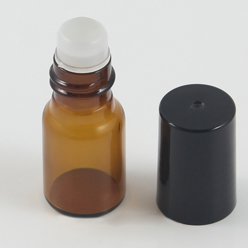 Empty Glass Roll On Bottle with Plastic Cap 3ml Supplier