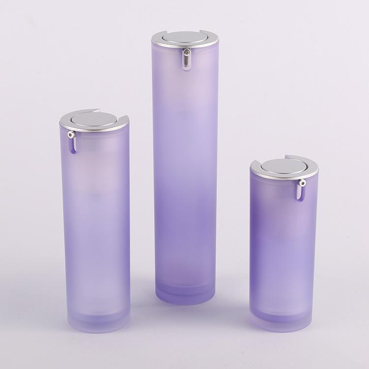 Round Acrylic Airless Pressed Pump Serum Bottle Manufacturer