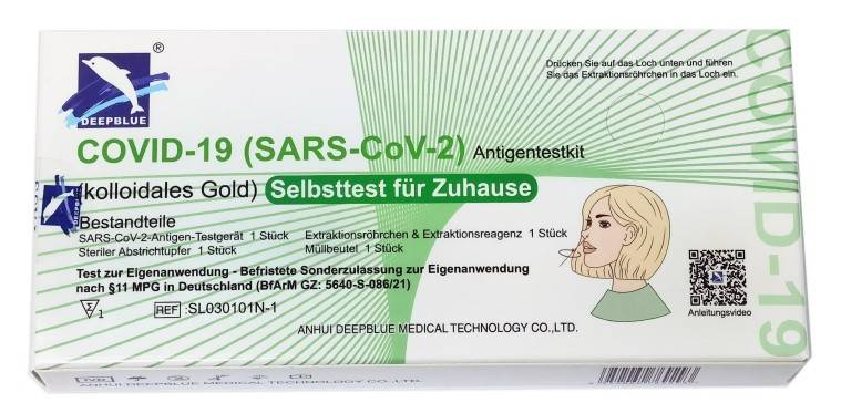 COVID-19 (Sars-CoV-2) Antigen test kit (Colloidal Gold) - Nasal Swab (Self Test)