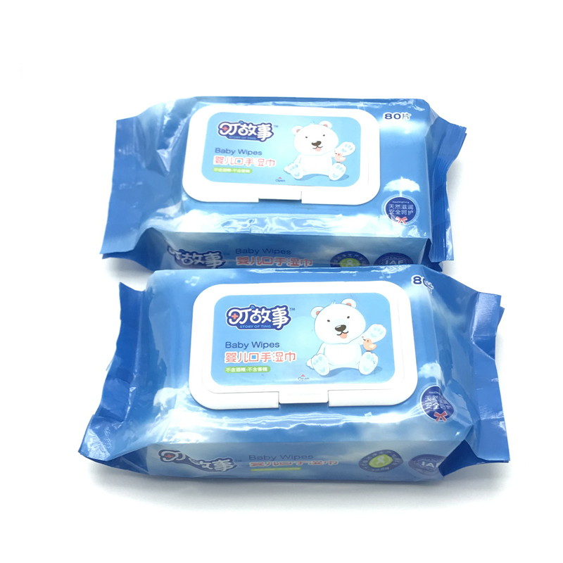 80pcs sheet size and yes alcohol free non alcohol non woven baby wet wipes