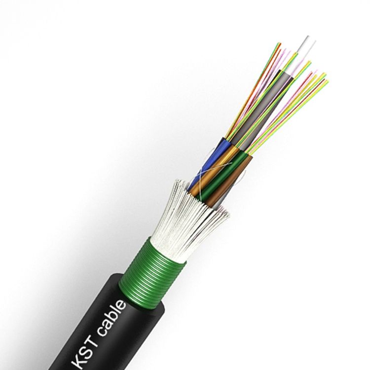 Fiber Optic Cable With Steel Tape Armored Loose Tube Outdoor Cable With FRP,Water Blocking Yarn ( GYTYS/GYFTS )