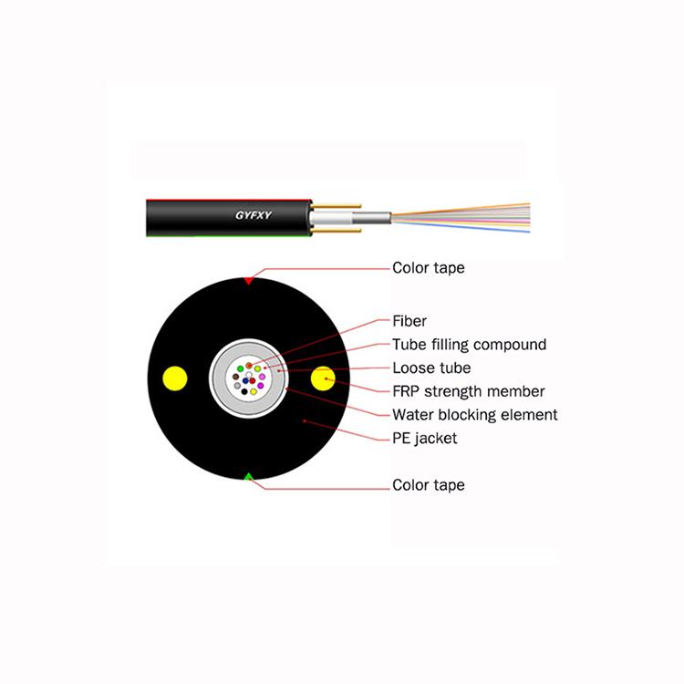 Uni tube Tube Dielectric Fiber Optic Cable
