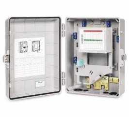 24 Port Fiber Optic Distribution Box Atb Ftth Access Terminal Box ABS Distribution Box