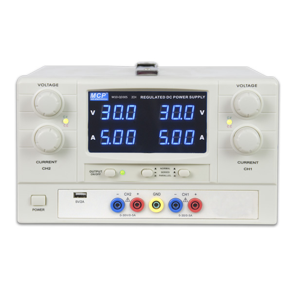 M10-QD SERIES DUAL OUTPUT CONSTANT VOLTAGE CONSTANT CURRENT ADJUSTABLE DC POWER SUPPLY WITH USB OUTPUT