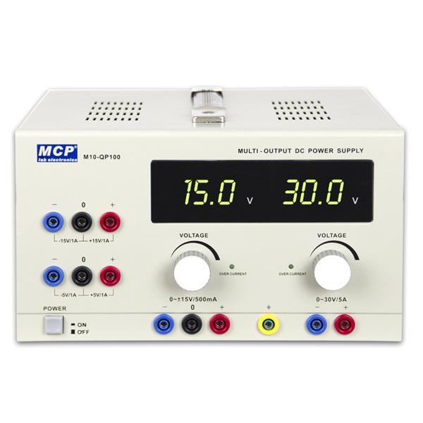M10-QP100 QUAD INDEPENDENT ADJUSTABLE OR SYMMETRIC DC POWER SUPPLY