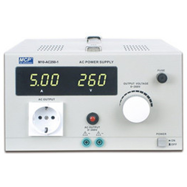 M10-AC250 SERIES ADJUSTABLE AC POWER SUPPLY WITH INSULATED TRANSFORMER