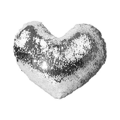 Magic Sublimation Flip Sequins Heart Pillow Case