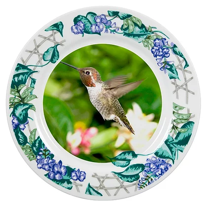 8inch Decorative Plate For Sublimation Flower Ornament