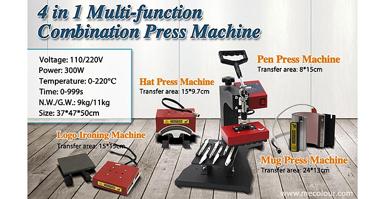 4 In 1 Multi Function Combination Press Machine