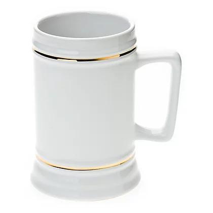 22oz Beer Mug For Sublimation With Gold Border