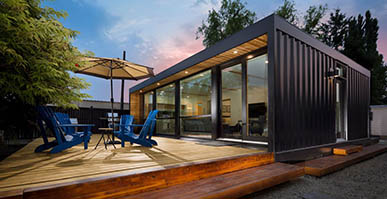 Shipping container housing sales office case presentation