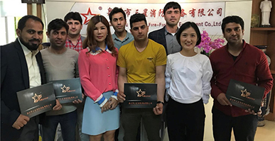 Welcome Afganistan Delegation to visit Quanzhou Sanxing Firefighting Equipment Co.,Ltd