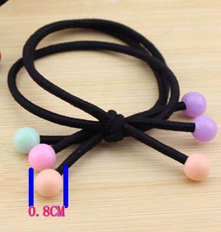 New Colourful Bead Candy Elastic Hair Band