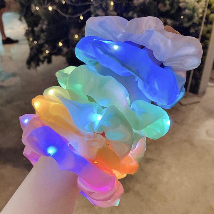 Wholesale New Design LED Scrunchies Hair Ties Hair Scrunchies