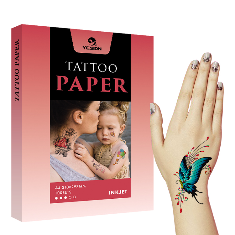 Inkjet printable tattoo paper A4 A3
