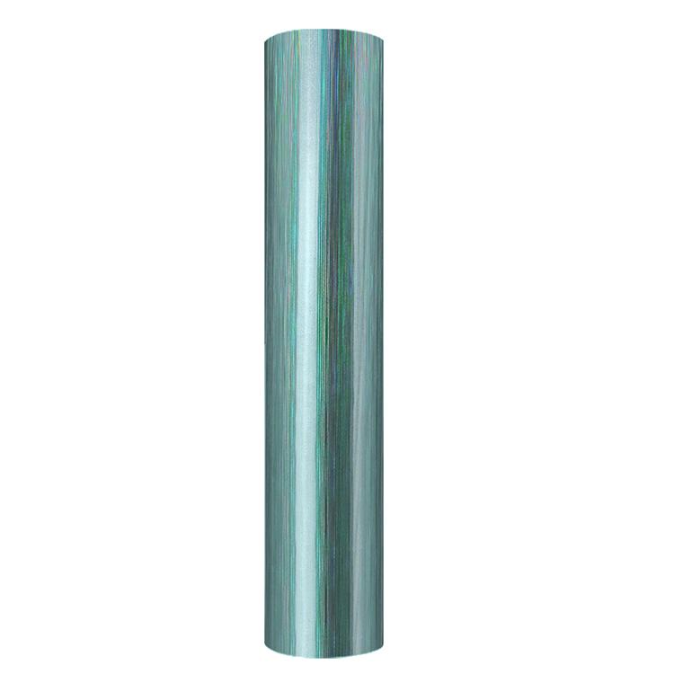 Holographic brushed adhesive craft sticker vinyl light blue