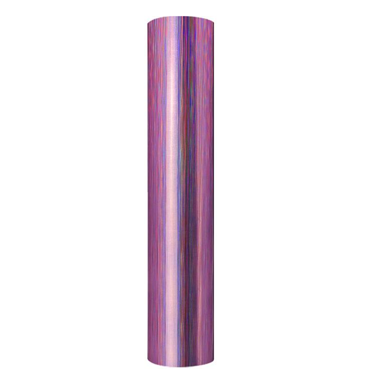 Holographic brushed self adhesive craft sticker vinyl purple