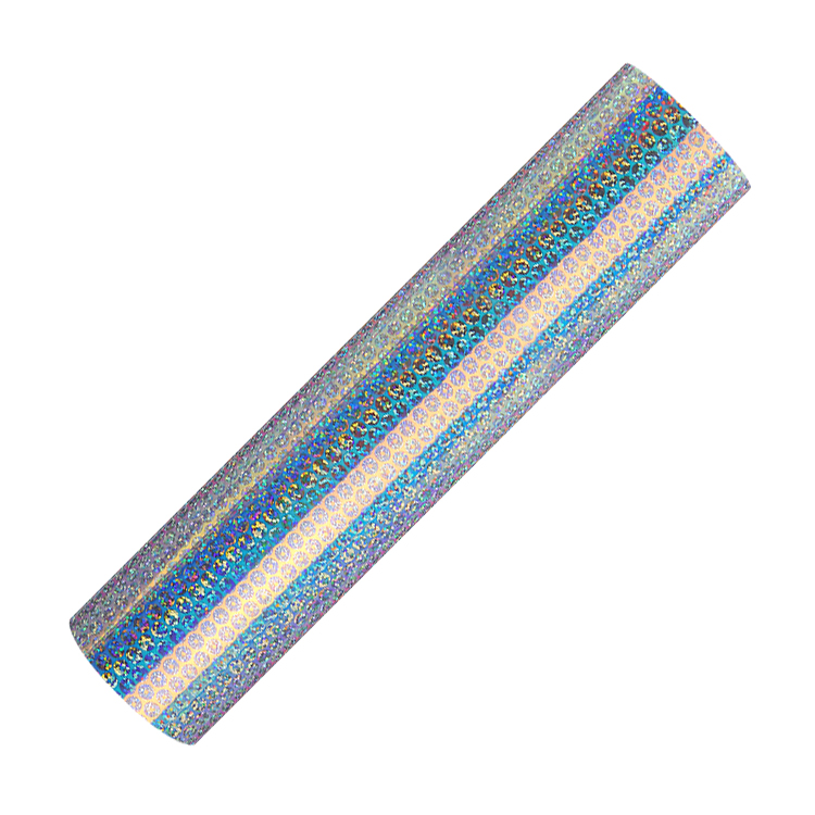 Holographic semi clear opal adhesive craft vinyl coins lines
