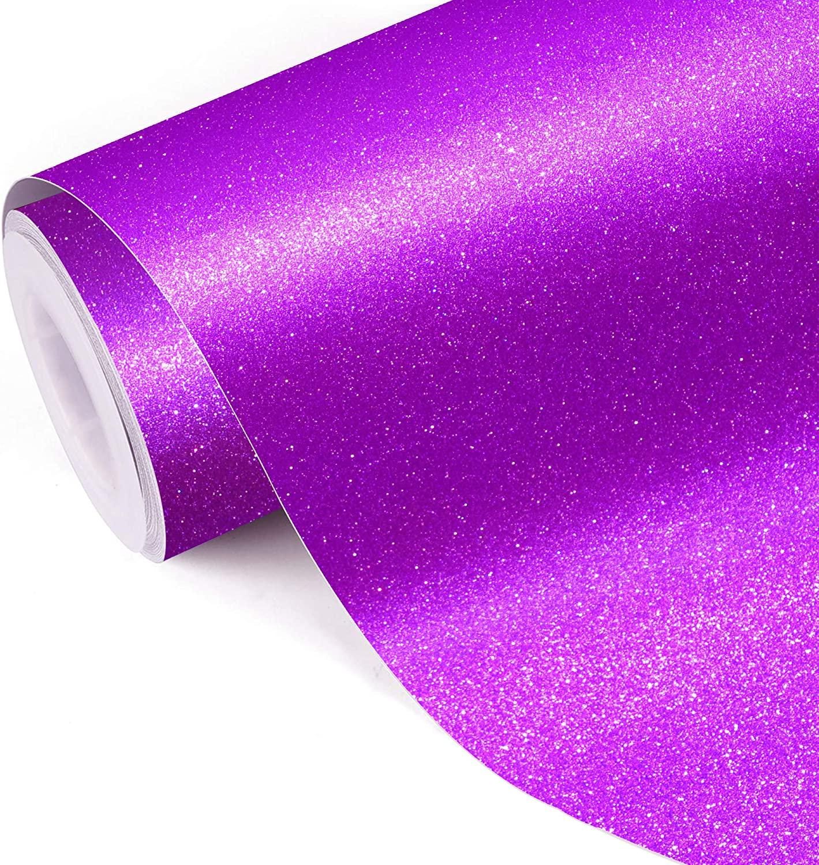 Glitter self adhesive craft sticker vinyl rose red for DIY