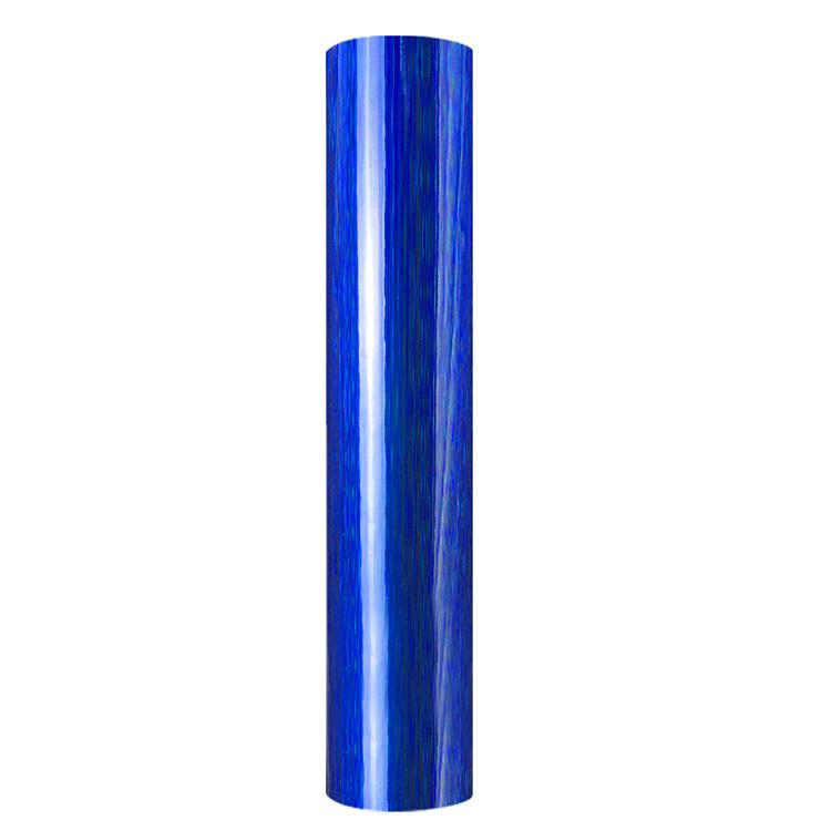 Holographic brushed self adhesive craft sticker vinyl blue