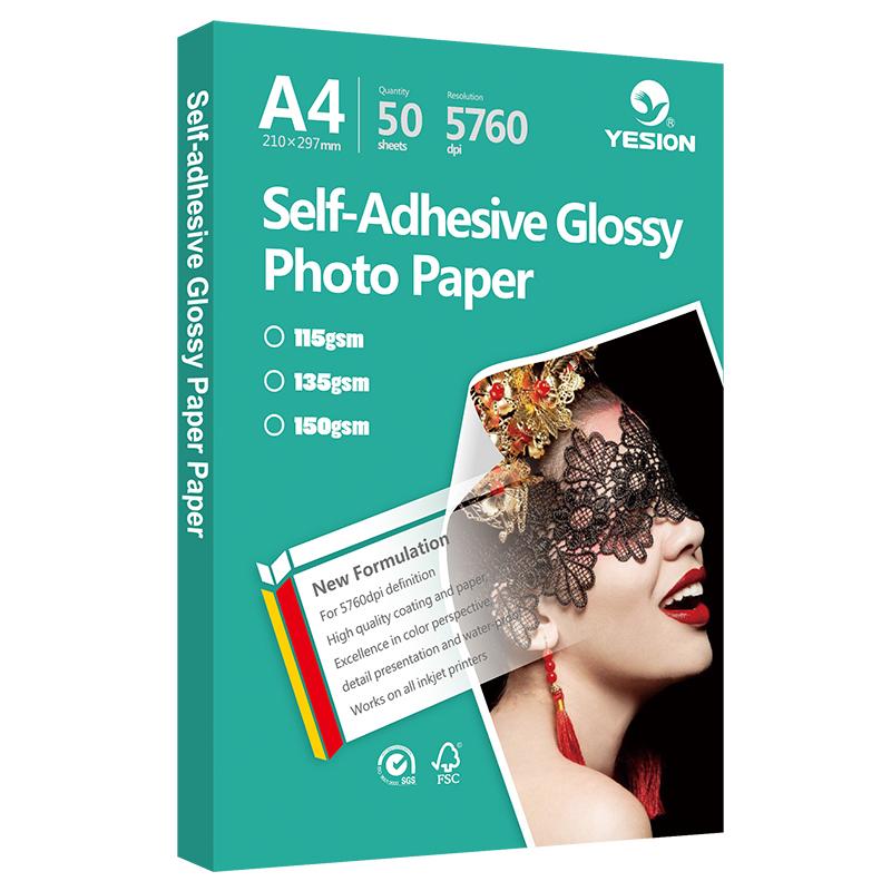 Glossy and matte sticker photo paper