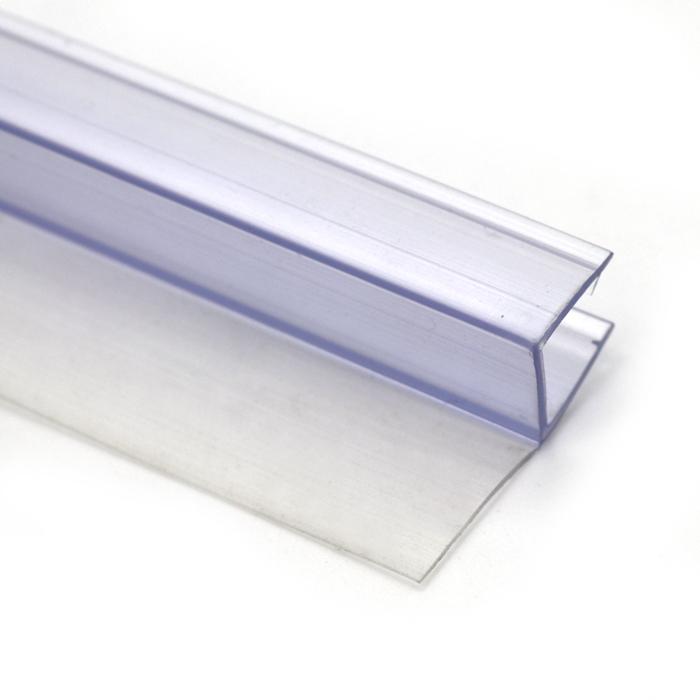 H Shape Waterproof Frameless PVC Rubber Shower Door Seal Strip
