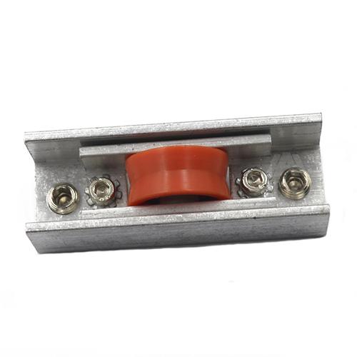 Factory price red single wheel aluminum profile window sliding roller