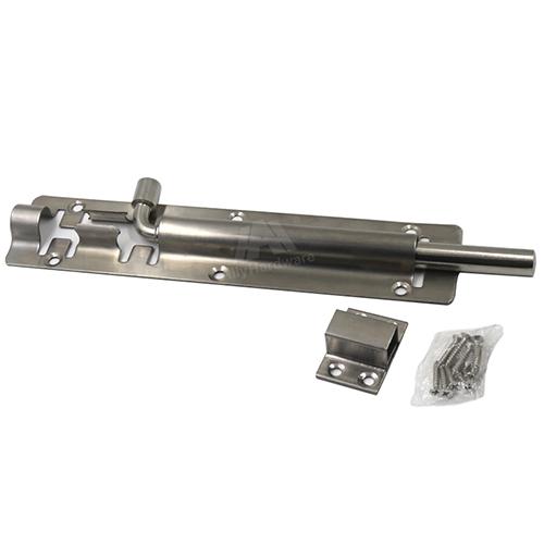 Stainless steel 304 barrel bolt slide security door lock
