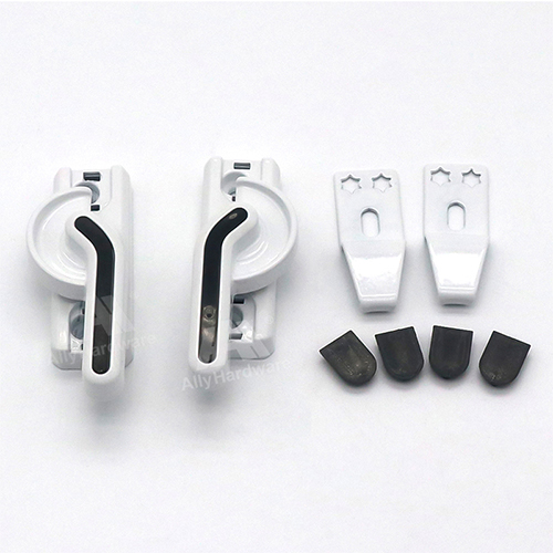 Low price safety white aluminum crescent lock for window
