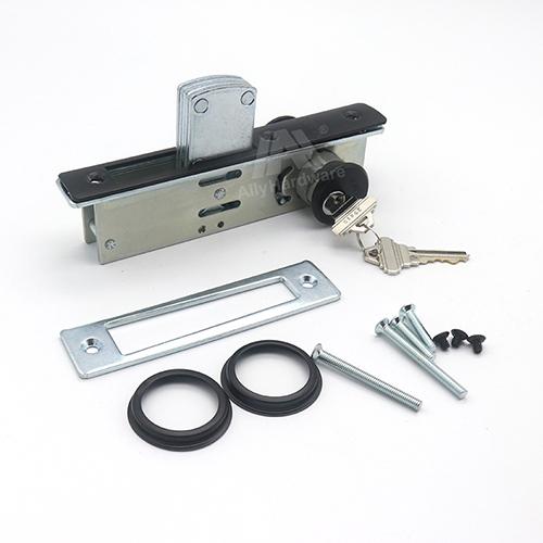 Double side door mortise flat lock for aluminum doors