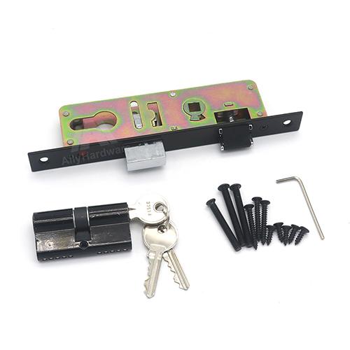 Aluminum door double side narrow profile door latch mortise lock