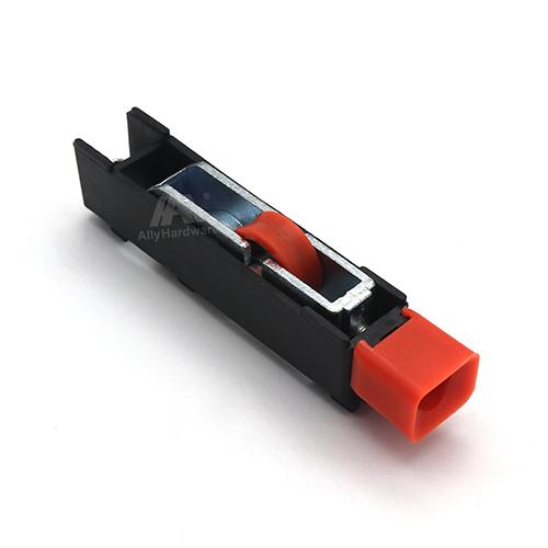 Red nylon single R46 sliding window wheel
