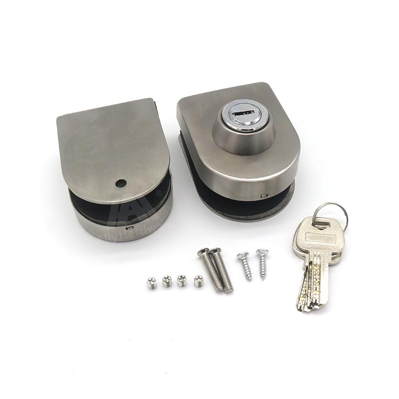 Commercial Frameless Stainless Steel 304 Sliding Glass Swing Door Lock